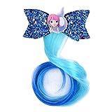 Los niños arco sirena flash vestido de pelo trenzas rizado peluca ropa de los niños accesorios de pelo