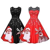 女性のレトロなクリスマスドレスラインカクテルパーティードレス