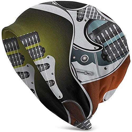 Gorros Unisex Gorros Popstar Party Guitarras eléctricas Música Rock 3D Adulto Comfortbale...