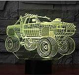3D LED Nachtlicht Panzer SUV Panzerwagen mit 7 Farben Licht für Home Decoration Lampe Erstaunliche Visualisierung Offroad V.