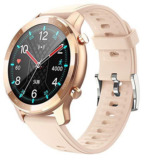 XWZ Reloj Inteligente Rastreador De Actividad Física Reloj Inteligente Pulsera Reloj Inteligente Deportivo Hombres Llamada Bluetooth Presión Arterial 24 Horas Frecuencia Cardíaca,Oro