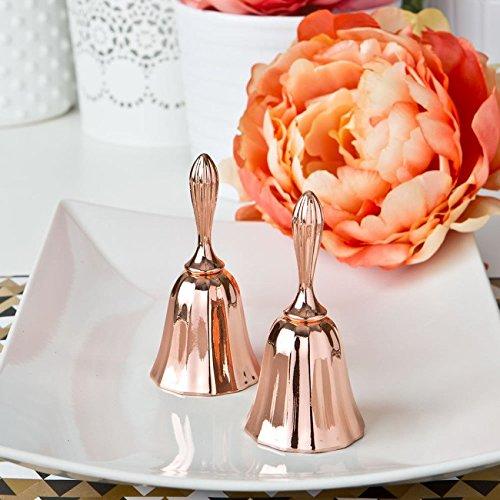 100 Rose Gold Metal Kissing Bell Or Wedding Bell