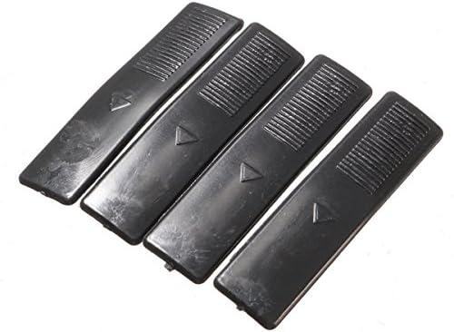 GOZAR 4 Pcs Rail De Toit Clip Rack Molding Cover Remplacement Noir pour Mazda 2 3 5 6 Cx7