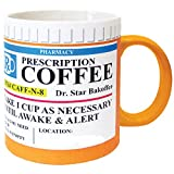 Mug The Prescription Coffee Mug, Ceramic, Funny Gift - 12 Ounce Coffee and Tea Cup