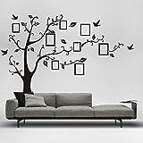 Wandtattoo Stammbaum XXL Baum mit Vögeln und Bilderrahmen 250 x 200cm