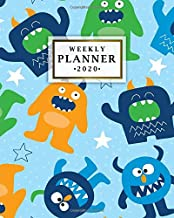 Weekly Planner 2020: Monthly Weekly Daily Views with To-Do's, Funny Holidays & Inspirational Quotes, Vision Boards, Notes & More | 2020 Organizer, Agenda & Diary | Pretty Cartoon Monsters & Stars