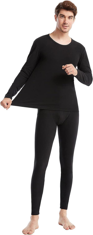 Mens Thermal Underwear Set Winter Base Layer Top & Bottom Ultra Soft Long Johns Pant Sets