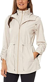 Jones New York Womens Parka in a Pocket Rain Jacket