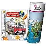 Ravensburger ® tiptoi Unterwegs mit der Feuerwehr + Kinder Weltkarte - Länder, Tiere, Kontinente -