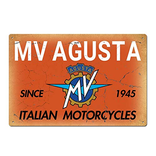 SIGNCHAT Italian Motorcycles MV Agusta 1945 Vintage Retro Blechschild Metallschild Blechschild Blechschild 20,3 x 30,5 cm