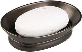 iDesign York Countertop Bar Soap Dish, Metal Soap Holder for Bathroom, Shower, Vanity, 3.87