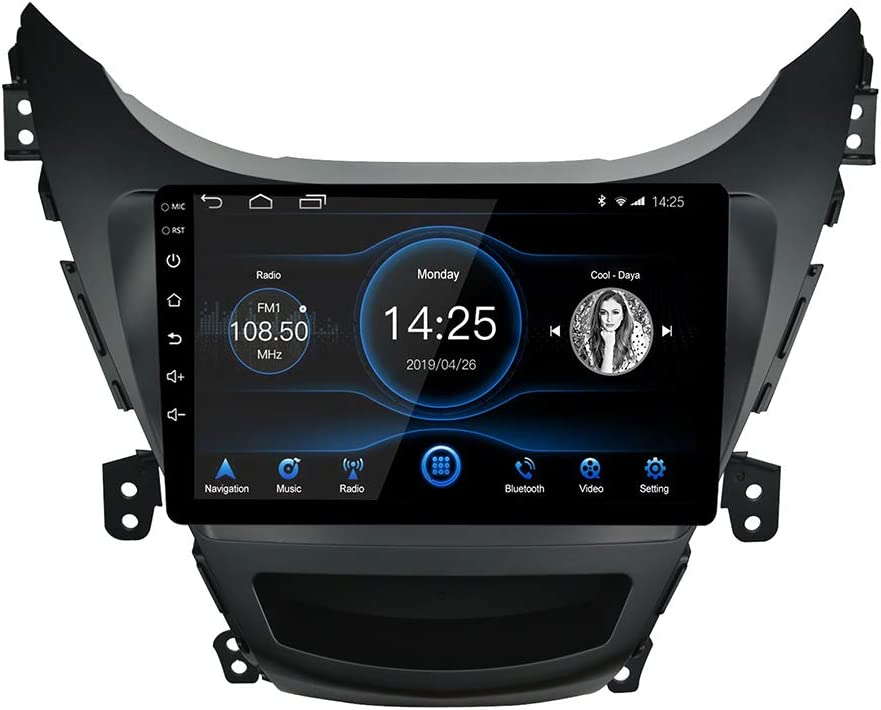 LEXXSON Android 10.1 Car Stereo for Hyundai Elantra 2011-2012, 9 inch Capacitive Touch Screen High Definition Head Unit, Build-in Bluetooth USB Player with Split Screen GPS Navigation