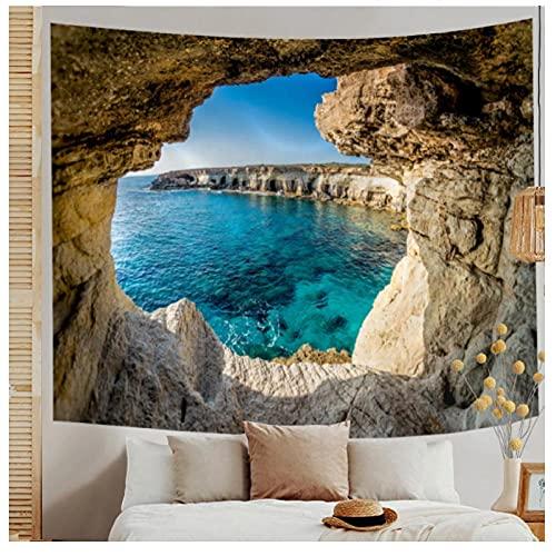 KBIASD Paisaje Montaña Cueva Naturaleza Tapiz Colgante de Pared 3D Art Deco Manta Cortina Picnic Mantel Hogar Dormitorio Dormitorio-200 * 150cm
