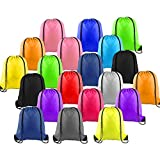 LUCWI Multicolor Drawstring Backpack, Sports Cinch Sacks String Backpack Bags for Traveling Gym Yoga Storage Gift, 20pcs-colorful, 16.913.6 in