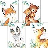 LALELU-Prints | 4er Set Poster Kinderzimmer Deko Junge |