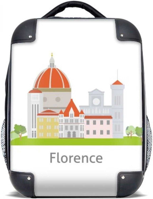 DIYthinker Italien Florenz Landschaft National Muster-Harter Fall Schulter Kind-Rucksack-Geschenk 15