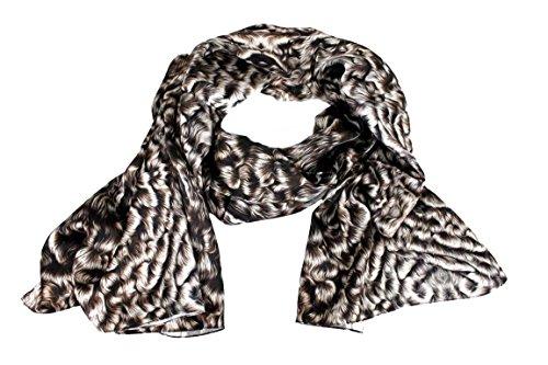 Roberto Cavalli Damen Schal Scarf im Geschenkbox Made in Italy 20225 Animal-Look