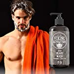 Beard Wash Shampoo w/Argan & Jojoba Oils - Softens & Strengthens - Natural Peppermint and Eucalyptus Scent - Beard… 6