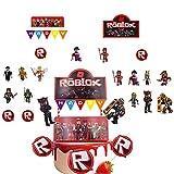 OYSJ Roblox Thème Cupcake Toppers, 54 PCS Petits gâteaux d'anniversaire pour décorations Roblox Cupcake - Party Decor Topper, Roblox Fournitures de Fête d'anniversaire Décorations de fête