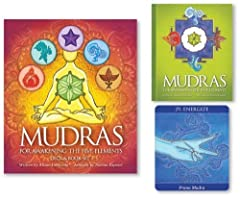 Mudras for awakening the five elements is a special set of 40 vibrant cards illustrating 35 mudras and 5 elements.