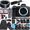CanonEOS R Mirrorless Digital Camera (Body Only) and Mount Adapter EF-EOS R Bundled + Deluxe Accessories from Canon