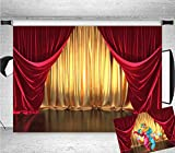 Qian 7x5FT Vinyl 3D Rendering Theater Stage Theme...