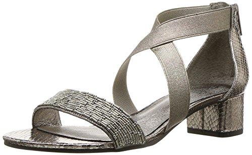 Adrianna Papell Women's Teagan Sandal, Gunmetal, 7.5 M US