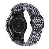 MroTech Compatibile con Huawei Watch GT 2 46 mm/GT 2e/GT2 Pro Cinturino 22 mm Ricambio per Samsung Galaxy Watch3 45mm/Gear S3 Frontier/Galaxy Watch 46mm Solo Loop Elastica Nylon Band-Onda Grigio cie