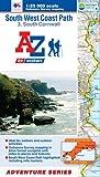 SW Coast Path South Cornwall Adventure Atlas 1:25K A-Z