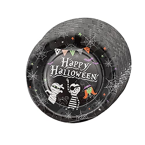 Halloween Tableware Essentials – 15 Paper Plates – Spooky Creepy Halloween Done Right