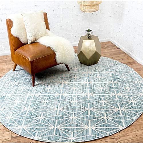tapis geometrique bleu
