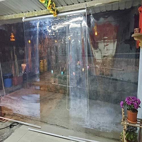 Persianas enrollables Estores Cortina Enrollable Transparente Impermeable para Exteriores, Interior, Pérgola de Cenador, Transparentes/Pantalla, 60/80/100/120/140 cm de Ancho