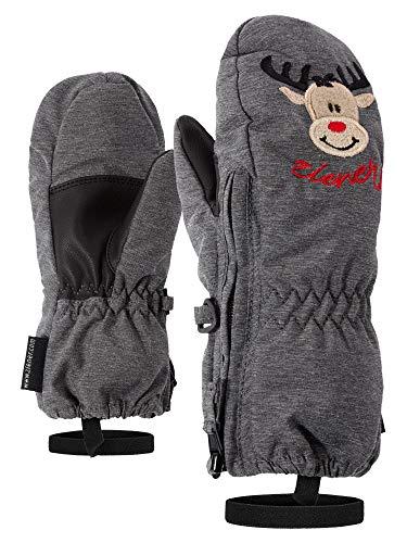 Ziener Baby LE ZOO MINIS glove Ski-handschuhe / Wintersport  warm, atmungsaktiv, grau (dark melange.black), 92cm