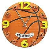 ZT-TTHG サッカーバスケットボール時計ワールドカップフィットネス児童室ミュート壁時計バスケットボールファン
