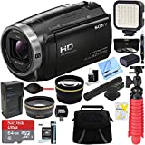 Sony HDR-CX675/B Full HD Handycam Camcorder with Exmor R CMOS Sensor + MIC-403 Mini Zoom Microphone...