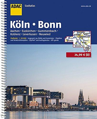 ADAC Stadtatlas Köln, Bonn, Aachen, Euskirchen, Gummersbach, Koblenz, Leverkusen: Insgesamt 254 Städte und Gemeinden. Citypläne und ... GPS-genau (ADAC StadtAtlanten 1:20.000)