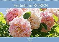 Verliebt in Rosen (Wandkalender 2022 DIN A2 quer): Wunderschoenen Rosen in ihre Gesichter geschaut (Monatskalender, 14 Seiten )
