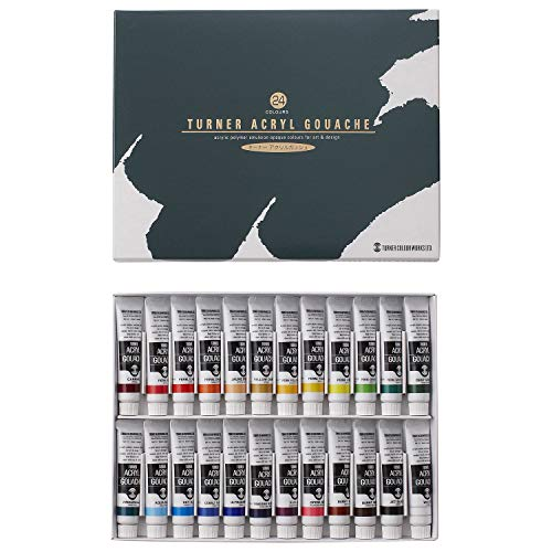 Turner acrylic gouache 24 colors set school (japan import) by Turner color