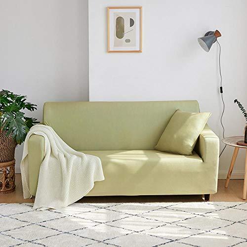 Fundas Sofas 3 y 2 Plazas Ajustables Verde Claro Fundas Sofá,Universal Funda Cubre Sofas Ajustables, Antideslizante Protector Cubierta de Muebles(145-185cm)