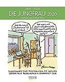 Jungfrau 2020: Sternzeichenkalender-Cartoonkalender als Wandkalender im Format 19 x 24 cm.