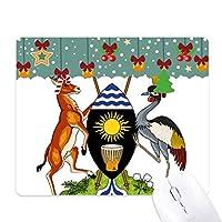 ウガンダアフリカ国家エンブレム ゲーム用スライドゴムのマウスパッドクリスマス