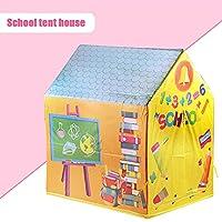 LWCHJ ゲームハウスプレイテントガールプリンセス屋内屋外玩具携帯用折りたたみ式秘密庭園プレイボールピットプールおもちゃ子供の子供 ( Color : School )