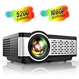 TOPTRO Projector,5200 Lumens LCD Mini Video Projector with Built in Hi-Fi Speakers Keystone