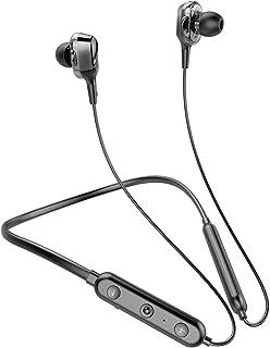 【4スピーカー内蔵】2021年最新版 Bluetooth 5.1 ワイヤレスイヤホン ネックバンド型 14時間連続再生 IPX7防水規格 マイク付き CVC8.0ノイズキャンセリング搭載 自動ペアリング ブルートゥース iPhone/Andro...
