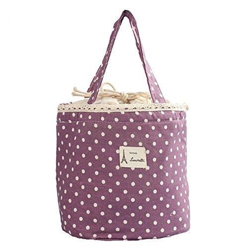 Sac Isotherme Repas Lunch Bag Portable Sac à Déjeuner - Sac Isotherme Repas Femme Grande Capacité Sac à Déjeuner Sac Transport Repas Lunch Bag pour Travail Ecole Pique-Nique