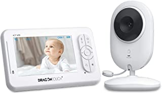 "Dragon Touch DT40 4.3"" Video Baby Monitor with Camera Infant Wireless Digital Cam, Infrared Night Vision, Support Multi-Ca..."