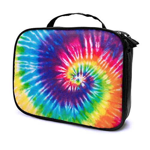 LOKIDVE Tie Dye Cosmetic Bag For Women Girl Portable Hanging Travel Toiletry Bag Waterproof Makeup Case Organizer Pouch Gifts