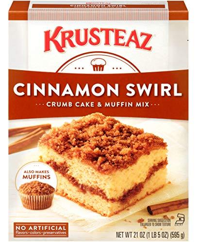 Krusteaz Cinnamon Swirl Crumb Cake & Muffin Mix, 21 OZ (Pack of 2)