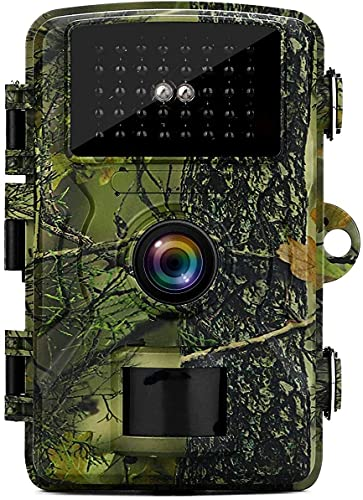 MISSJJ Wildlife Camera 1080P 12MP Hunting Trail Cameras with 40 pcs infrared LEDs,940nm No Glow Night Vision Motion Waterproof 90°Wide-Angle for Hunting Games,Wildlife Monitoring and Home Security