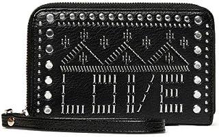 Desigual Mone_Azabache Mini Portefeuille zippé pour Femme